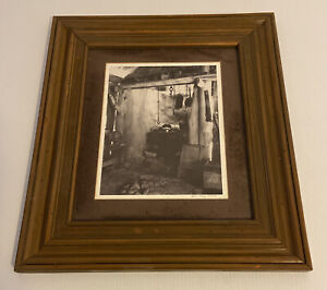 Vintage Limited Edition #5 Framed Print By John Clay 'Barkers Hut Kitchen' 1993