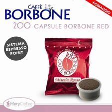 200 Capsule Caffè Borbone espresso point ROSSA RED Compatibili Lavazza Espres...