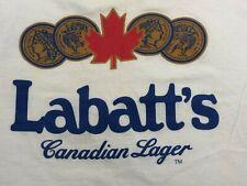 Vintage Labatt White Tshirt Four Medals Single Stitch 90's Men's Screen Stars XL