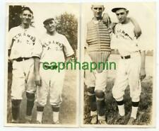 1920s ALHAMBRA Illinois IL Baseball Team Players 1 Catcher 2 Vintage Photos