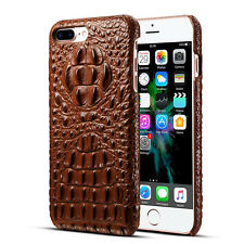 Luxury Thin Crocodile Grain Leather PC Armor Case Cover For iPhone 11 Pro Max XR