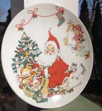 Goebel West Germany Porcelain Christmas Holiday Plate Dish Charlot Byj 1973 Vtg