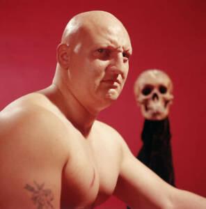 Wrestler Skull Murphy Of The USA 1960s OLD PHOTO