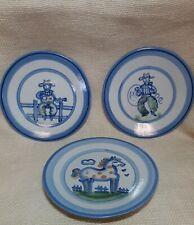 "3 M A Hadley plates   2 horse  cowboy 7.5"""