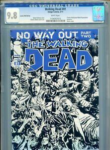 2011 IMAGE WALKING DEAD #81 COMICS PRO EDITION EXLUSIVE SKETCH COVER CGC 9.8 BX2