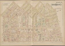 1891 G.M. HOPKINS, NEW YORK, BUFFALO HOMEOPATHIC HOSPITAL, COPY PLAT ATLAS MAP