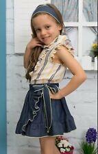 PDF DIGITAL PATTERN Sewing girl's BLOUSE WITH BIB+ WRAP SKIRT *DOWNLOAD*