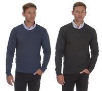 Mens Crew Neck Sweater Jumper Diamond Knitwear Warm Formal Casual Office Smart