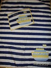 "New Pottery Barn Kids~Oceanside~Monogram ""Jackson""~Nursery Crib Quilt & Sham"