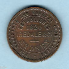 Australia Token. c1860s  Iredale 1d.    Scarce Seated Type..  Sydney NSW.. F+