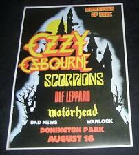 Ozzy Osbourne-Monsters Of Rock Donington Park UK August 16th 1986 concert poster