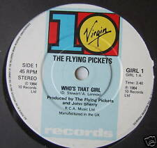 "FLYING PICKETS - Who's That Girl - Ex Con 7"" Single"