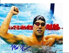 2012 Usa Gold Medal Olympic Swimmer Matt Grevers Signed Fist Pump 8X10