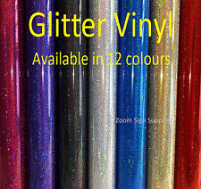 GLITTER EFFECT SELF ADHESIVE SIGN VINYL STICKY BACK PLASTIC CRICUT SILHOUETTE