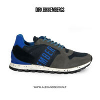 Bikkembergs Scarpe Uomo FENDER 2356 Low shoe m camoscio Grigio blue BKE109199