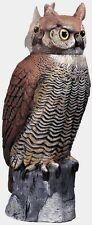 """New! Dalen Gardeneer Owl Ornamental Scarecrow Rotating Head 18"""" Tall RH0-4 Decoy"""
