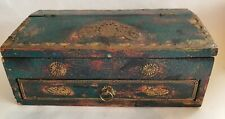 OLD INDIAN WOODEN BOX.