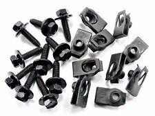 Jeep Body Bolts & U-nut Clips- M6-1.0mm x 25mm Long- 10mm Hex- Qty.10 ea.- #142