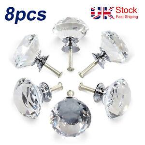 Cristal boutons de porte diamant  Cabinet de tiroir de meubles poignée cuisine