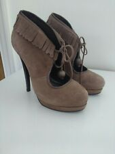 Vintage style CARVELA brown suede shoes killer heels Tassels & Bobbles UK 5