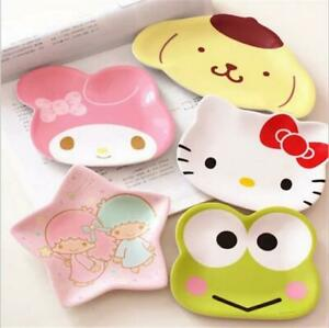 Cute My Melody Hello Kitty Little Twin Star Keroppi Fruit Dish Snack Candy Plate