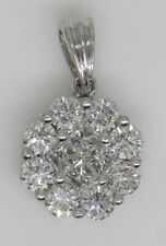 GORGEOUS 18K WHITE GOLD PENDANT WITH 1.05 CTW DIAMONDS #Z16