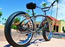 Soul Beach Cruiser UK Fat Tyre Raw Polished Stomper American Big Bicycle Bike