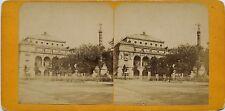 Place du Châtelet Paris France Stereo Vintage albumine ca 1875