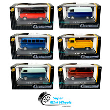 Cararama 1:72 Volkswagen T1 Pickup , Samba and Transporter Set of 6 cars