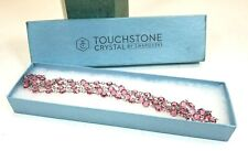 Touchstone Crystal By Swarovski Chanelle Necklace *ROSE*