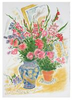 """""""FLOWERS"""" BY IRA MOSKOWITZ SIGNED LITHOGRAPH LE OF 200 W/ CoA 29.75 X 21.5"""