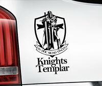 KNIGHTS TEMPLAR, Car Sticker, Freemason Masonry Window Decal Bumper Sign - V7BLK