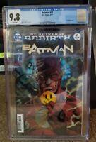 Batman #21 9.8 CGC Watchman Button Lenticular Cover