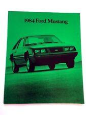 1984 Ford Mustang 28-page Original Car Sales Brochure Catalog - GT Turbo SVO
