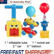 NEW Fun Inertia Balloon Powered Car Toys Aerodynamics Inertial Power Kids Gifts