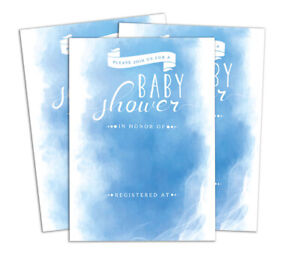 Baby Shower 28 Pcs Fill or Write In Blank Invites Party Supplies -DS-IN251A