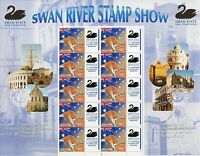 2004 Swan River Stamp Show 150th Ann of 1st WA Stamp - Special Events Sheetlet