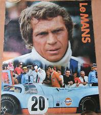 21 . LE MANS : FILM STEVE MAC QUEEN . 1 X AFFICHE  . 1971 . CINEMA CENTER FILMS