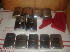 Vintage Jon-e hand warmer lot of 11 and others GI Large style handwarmers