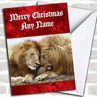 Lion Personalized Christmas Card