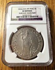 1836 MT Peru 8 reales silver republic NGC XF AU crown liberty peso LIMA graded
