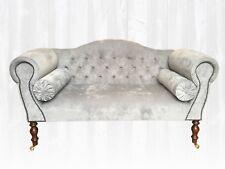 Provence Sofa Grey Velvet Two Seater *Stunning* BESPOKE HANDMADE in UK