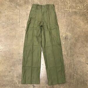 NOS OG107 /  Fatigue Pants, W26 x L31 US Army 1960's n-42