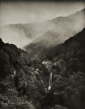 1964 Vintage STEVE CROUCH Waterfall Misty Fog Forest Landscape Photo Art 16X20