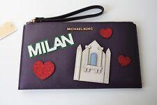 Bolso de Michael Kors /wristler/embrague illustrations multi Milan Púrpura