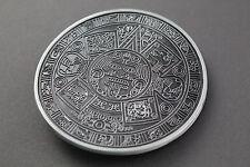 Gris Negro Hebilla de cinturón calendario azteca maya México Metal Tribal