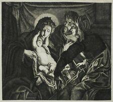 NICOLAES LAUWERS - Heilige Familie - Kupferstich 1630/1640