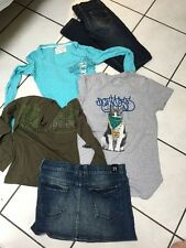 LOT FILLE TAILLE 14 ANS JUPE BERENICE TOP G.STAR JEAN VIA CODE  DC AEROPOSTALE