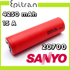 Batterie Pila ricaricabili al a litio li-ion da 3.6V 3.7V 20700 4000mah Sanyo