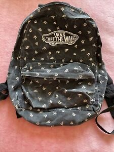 VANS Black Flower Details Backpack Authentic
